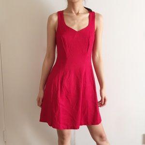 Vintage CDC crossback Red dress